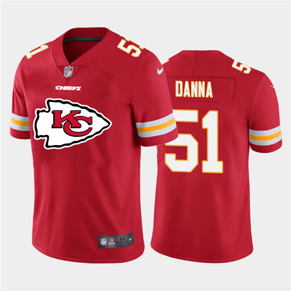 Nike Chiefs 51 Mike Danna Red Team Big Logo Vapor Untouchable Limited Jersey