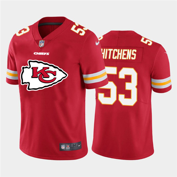 Nike Chiefs 53 Anthony Hitchens Red Team Big Logo Vapor Untouchable Limited Jersey