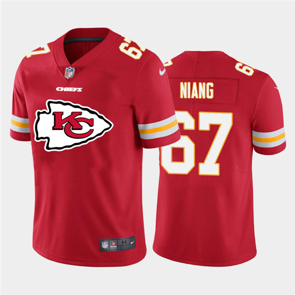 Nike Chiefs 67 Lucas Niang Red Team Big Logo Vapor Untouchable Limited Jersey