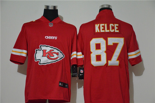 Nike Chiefs 87 Travis Kelce Red Vapor Untouchable Limited Jersey