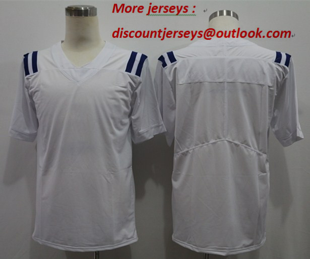 Nike Colts Blank White Vapor Untouchable Limited Jersey