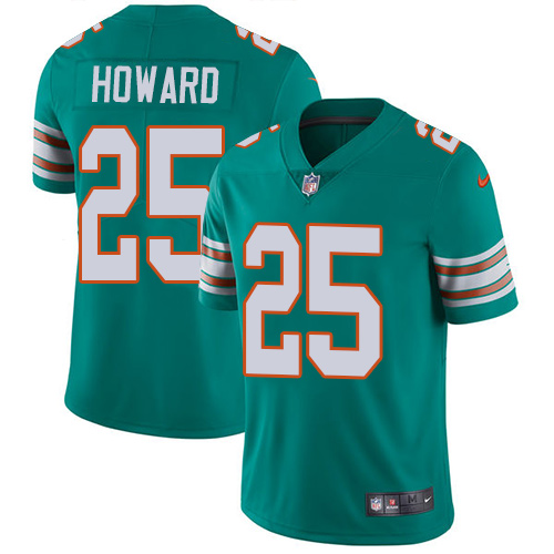 Nike Dolphins #25 Xavien Howard Aqua Green Alternate Youth Stitched NFL Vapor Untouchable Limited Jersey