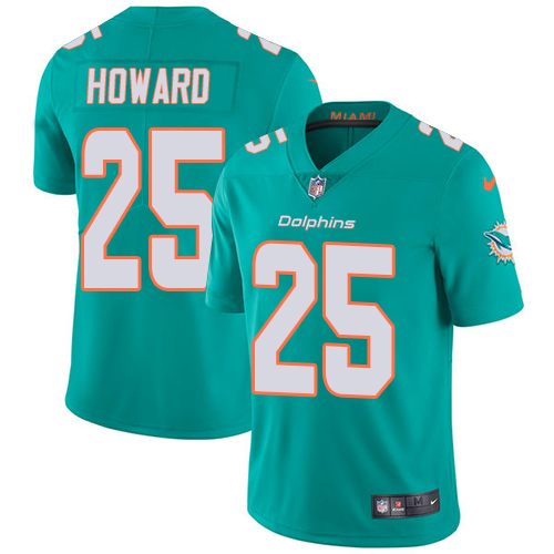 Nike Dolphins #25 Xavien Howard Aqua Green Team Color Youth Stitched NFL Vapor Untouchable Limited Jersey