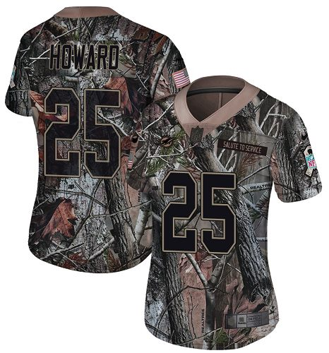 Nike Dolphins #25 Xavien Howard Camo Women's Stitched NFL Limited Rush Realtree Jersey