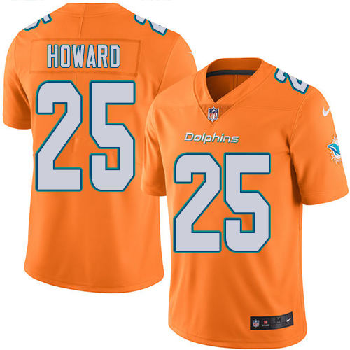 Nike Dolphins #25 Xavien Howard Orange Youth Stitched NFL Limited Rush Jersey