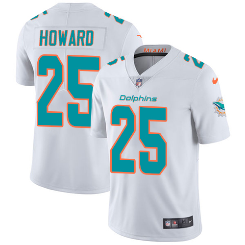 Nike Dolphins #25 Xavien Howard White Youth Stitched NFL Vapor Untouchable Limited Jersey