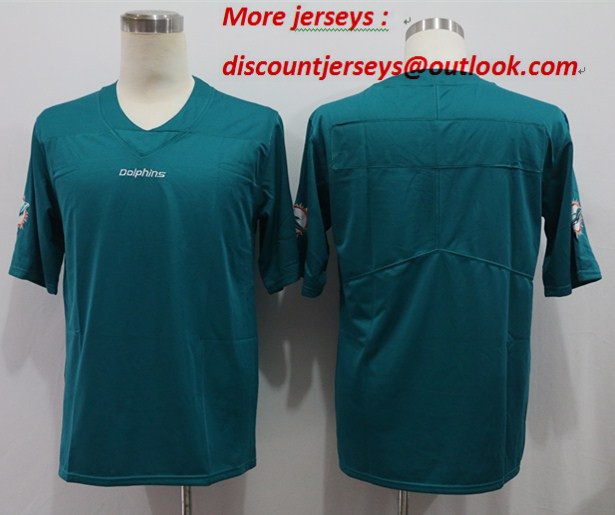 Nike Dolphins Blank Teal Vapor Untouchable Limited Jersey