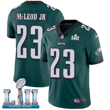 Nike Eagles #23 Rodney McLeod Jr Midnight Green Team Color Super Bowl LII Youth Stitched NFL Vapor Untouchable Limited Jersey