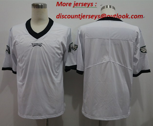 Nike Eagles Blank White Vapor Untouchable Limited Jersey