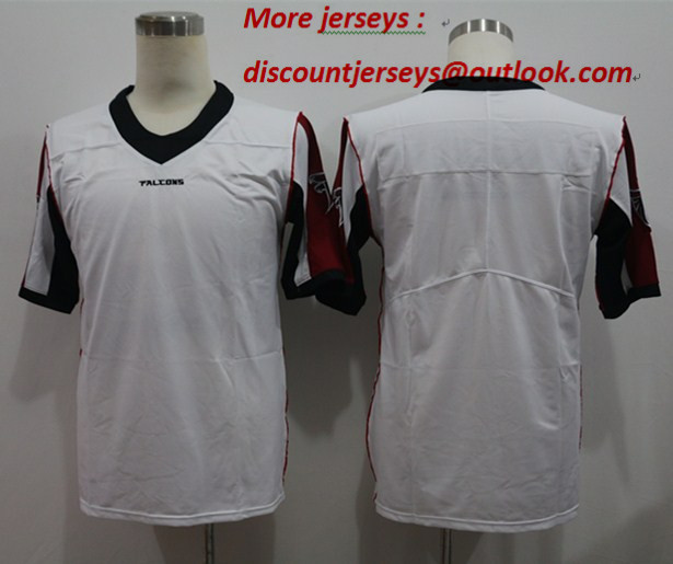 Nike Falcons Blank White Vapor Untouchable Limited Jersey