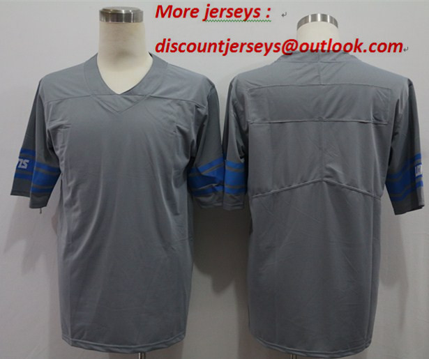 Nike Lions Blank Gray Vapor Untouchable Limited Jersey