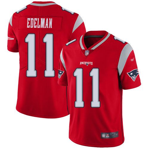 Nike Patriots #11 Julian Edelman Red Men's Stitched Football Limited Inverted Legend Jersey