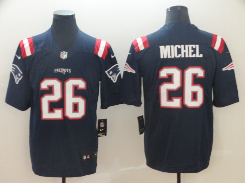 Nike Patriots 26 Sony Michel Navy Color Rush Limited Jersey