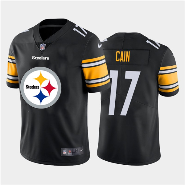 Nike Steelers 17 Deon Cain Black Team Big Logo Vapor Untouchable Limited Jersey