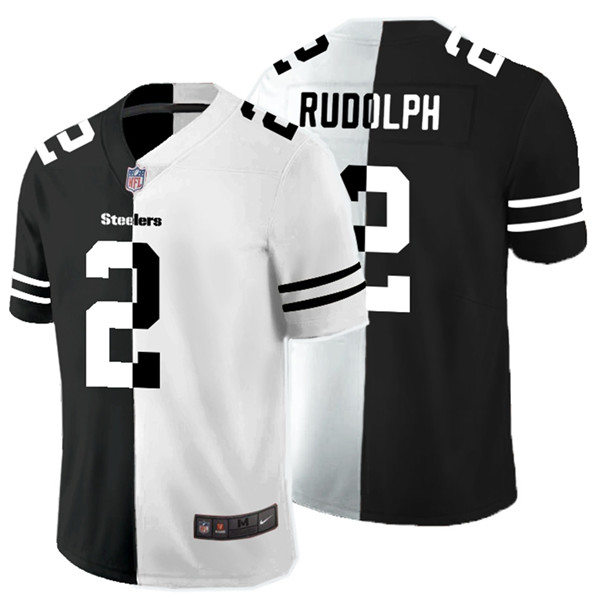 Nike Steelers 2 Mason Rudolph Black And White Split Vapor Untouchable Limited Jersey