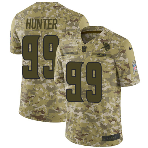 d613317f257 Nike Vikings #99 Danielle Hunter Camo Youth Stitched NFL Limited 2018 Salute  to Service Jersey