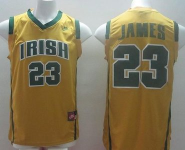 ... buy notre dame fighting irish 23 lebron james yellow basketball  stitched ncaa jersey cccbd 9c439 6c0a58d34