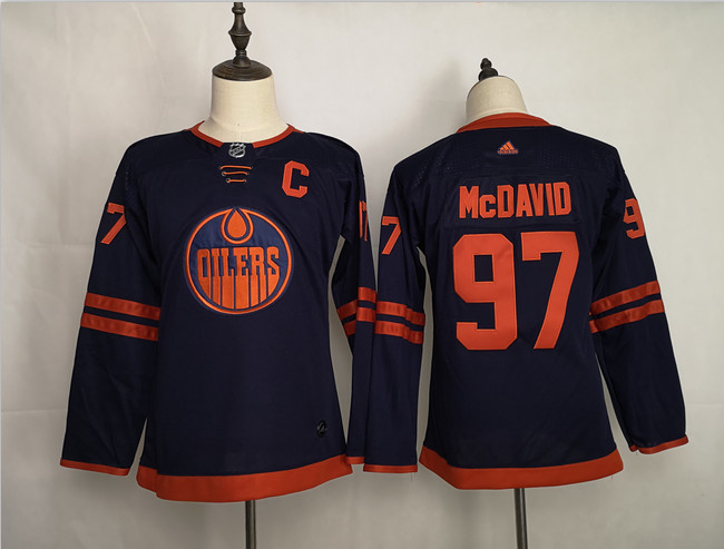 Oilers 97 Connor McDavid Navy Youth 50th Anniversary Adidas Jersey