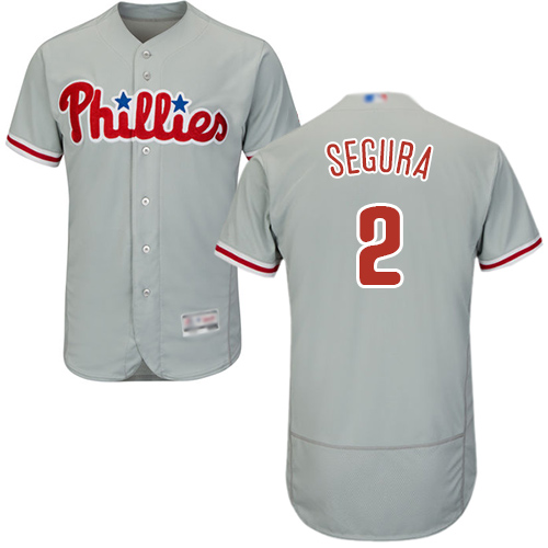 Phillies #2 Jean Segura Grey Flexbase Authentic Collection Stitched Baseball Jersey