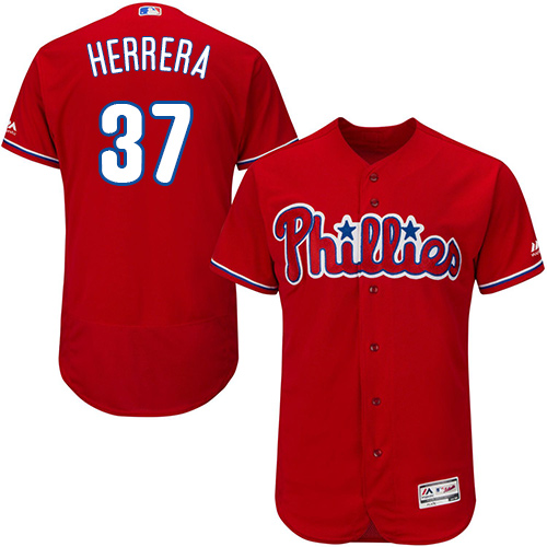 Phillies #37 Odubel Herrera Red Flexbase Authentic Collection Stitched Baseball Jersey