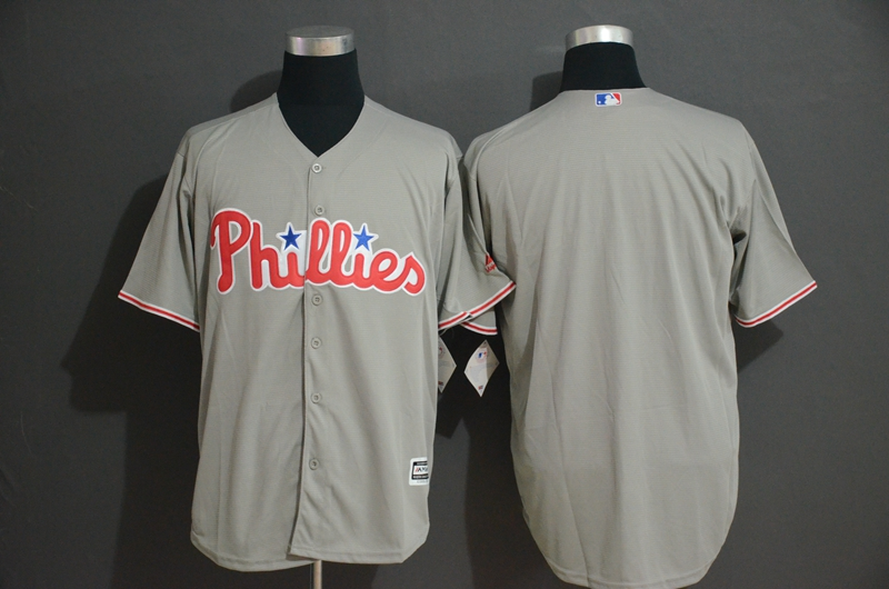 Phillies Blank Gray Cool Base Jersey
