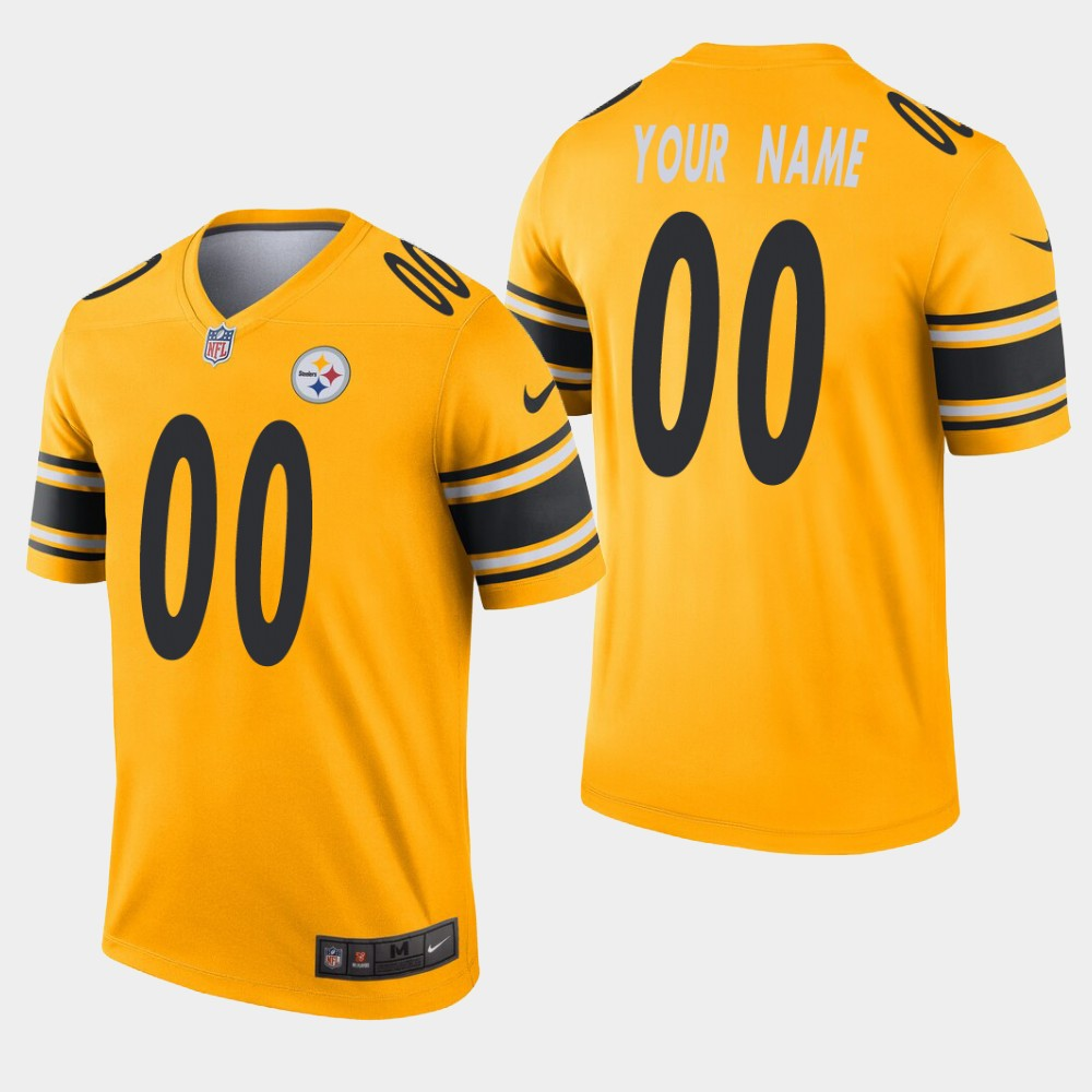 Pittsburgh Steelers #00 Custom Inverted Gold Legend Jersey