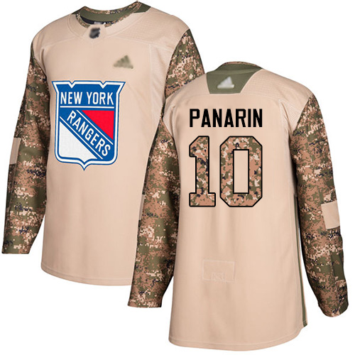 Rangers #10 Artemi Panarin Camo Authentic 2017 Veterans Day Stitched Hockey Jersey