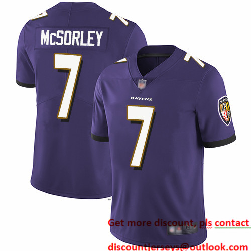 Ravens #7 Trace McSorley Purple Team Color Youth Stitched Football Vapor Untouchable Limited Jersey