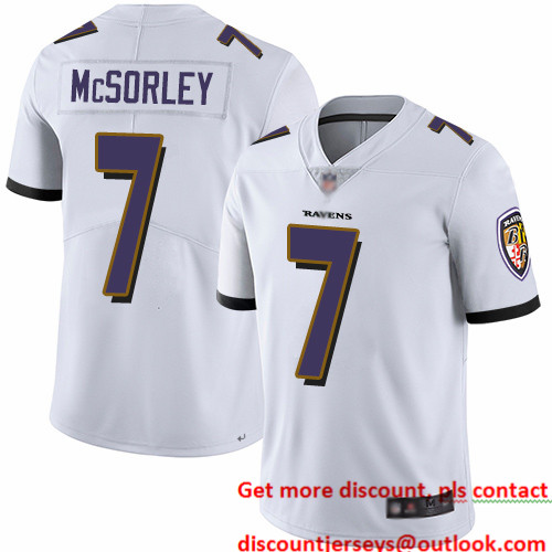 Ravens #7 Trace McSorley White Youth Stitched Football Vapor Untouchable Limited Jersey