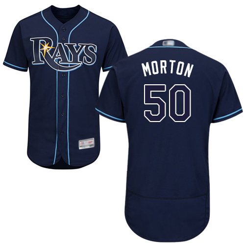 Rays #50 Charlie Morton Dark Blue Flexbase Authentic Collection Stitched Baseball Jersey