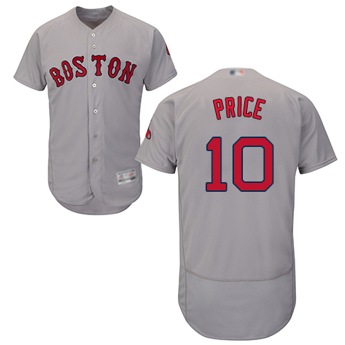 Red Sox #10 David Price Grey Flexbase Authentic Collection Stitched Baseball Jersey