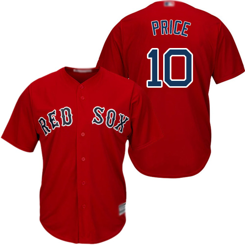 Red Sox #10 David Price Red Cool Base Stitched Youth Baseball Jersey