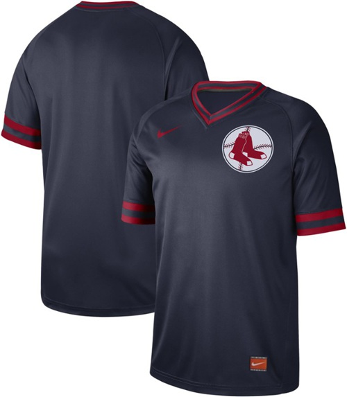 Red Sox Blank Navy Authentic Cooperstown Collection Stitched Baseball Jersey