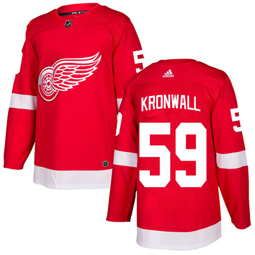 Red Wings #59 Niklas Kronwall Red Home Authentic Stitched Hockey Jersey