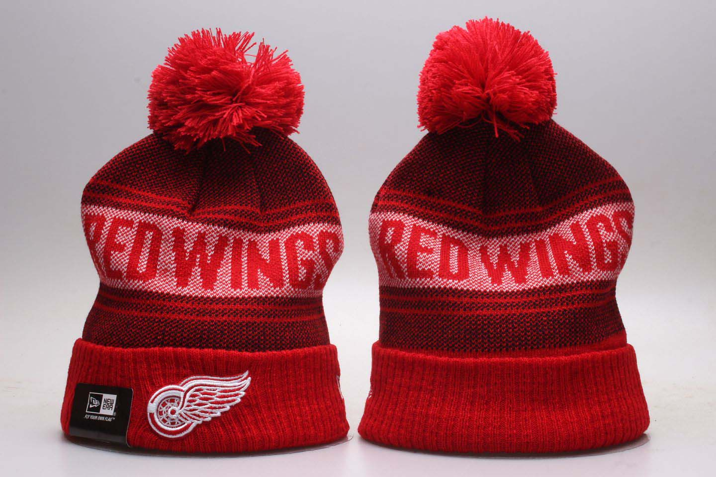 Red Wings Fresh Logo Red Knit Hat With Pom YP