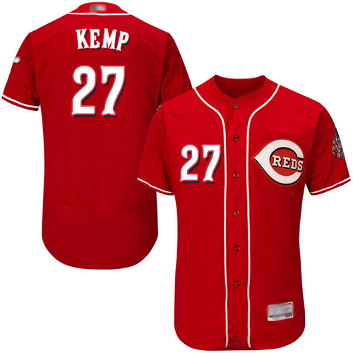 Reds #27 Matt Kemp Red Flexbase Authentic Collection Stitched Baseball Jersey