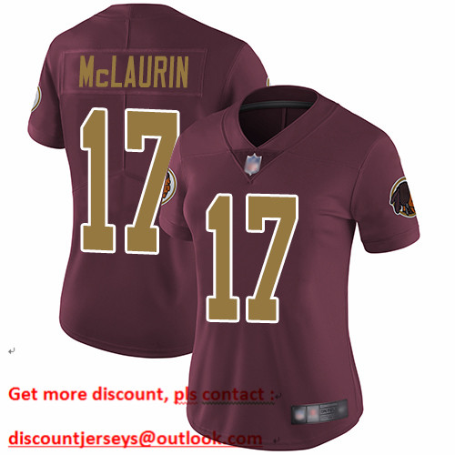 Redskins #17 Terry McLaurin Burgundy Red Alternate Women's Stitched Football Vapor Untouchable Limited Jersey