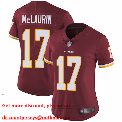 Redskins #17 Terry McLaurin Burgundy Red Team Color Women's Stitched Football Vapor Untouchable Limited Jersey