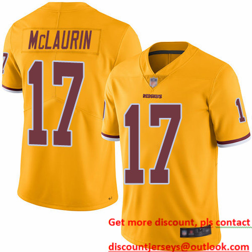 Redskins #17 Terry McLaurin Gold Men's Stitched Football Limited Rush Jersey