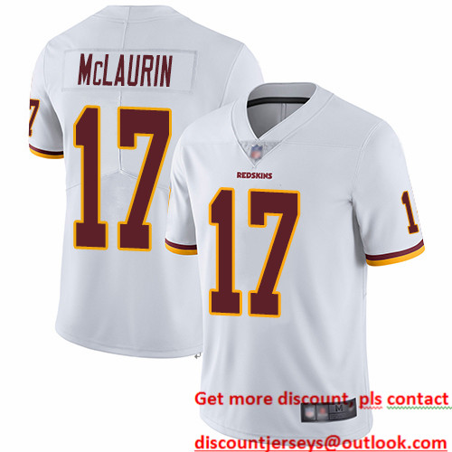 Redskins #17 Terry McLaurin White Men's Stitched Football Vapor Untouchable Limited Jersey