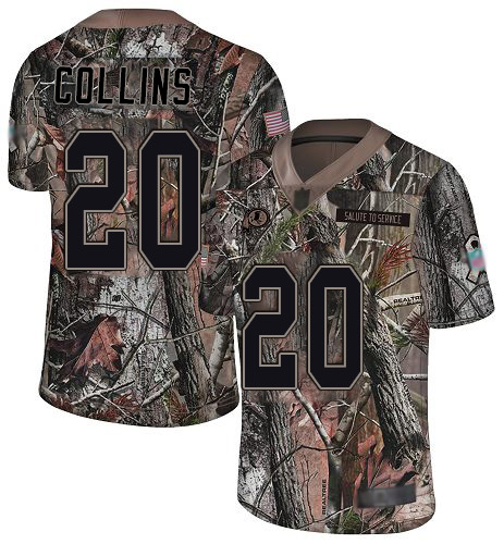 Redskins #20 Landon Collins Camo Men's Stitched Football Limited Rush Realtree Jersey