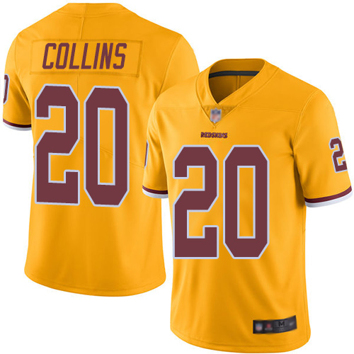 Redskins #20 Landon Collins Gold Men's Stitched Football Limited Rush Jersey