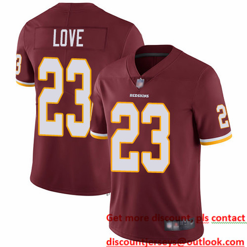 Redskins #23 Bryce Love Burgundy Red Team Color Men's Stitched Football Vapor Untouchable Limited Jersey