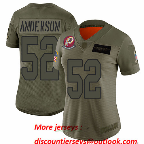 Redskins #52 Ryan Anderson Camo Women's Stitched Football Limited 2019 Salute to Service Jersey