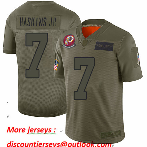 Redskins #7 Dwayne Haskins Jr Camo Youth Stitched Football Limited 2019 Salute to Service Jersey