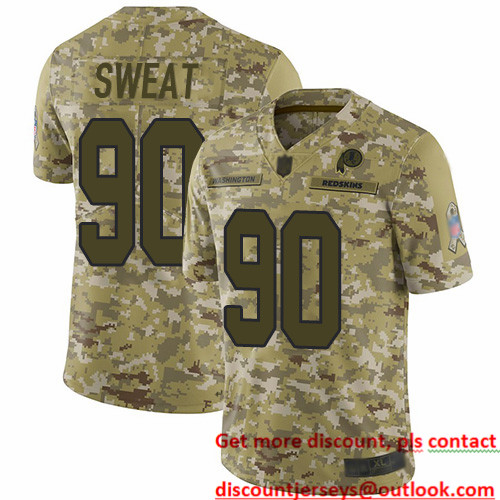 Redskins #90 Montez Sweat Camo Men's Stitched Football Limited 2018 Salute To Service Jersey