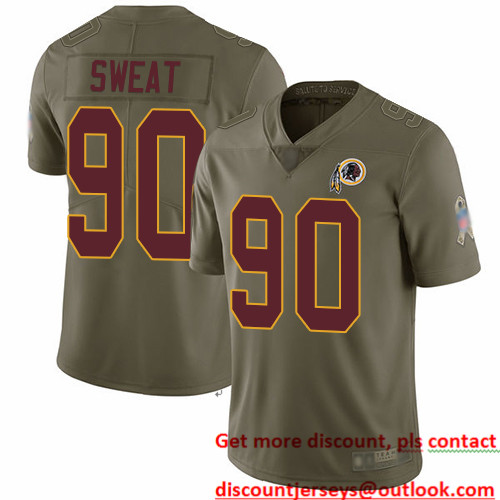 Redskins #90 Montez Sweat Olive Men's Stitched Football Limited 2017 Salute To Service Jersey