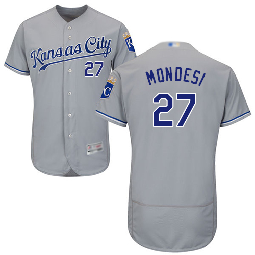 Royals #27 Raul Mondesi Grey Flexbase Authentic Collection Stitched Baseball Jersey