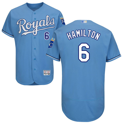 Royals #6 Billy Hamilton Light Blue Flexbase Authentic Collection Stitched Baseball Jersey