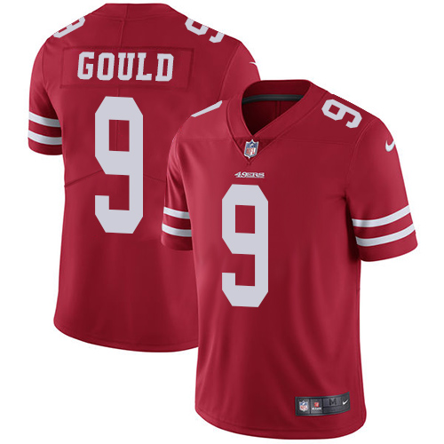 San Francisco 49ers #9 Robbie Gould Red Nike NFL Vapor Untouchable Jersey